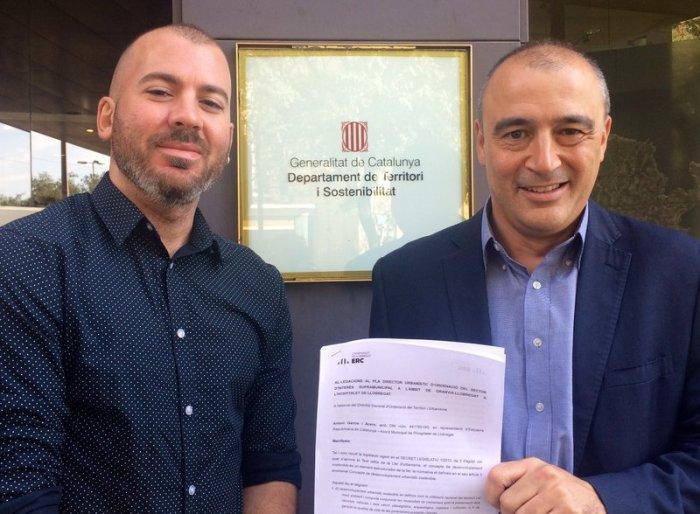 Antoni Garcia i Coque Garcia, regidors d'ERC de l'Hospitalet, presenten a Territori i Sostenibilitat al·legacions al PDU Granvia