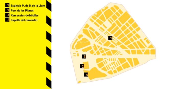 mapa del districte IV